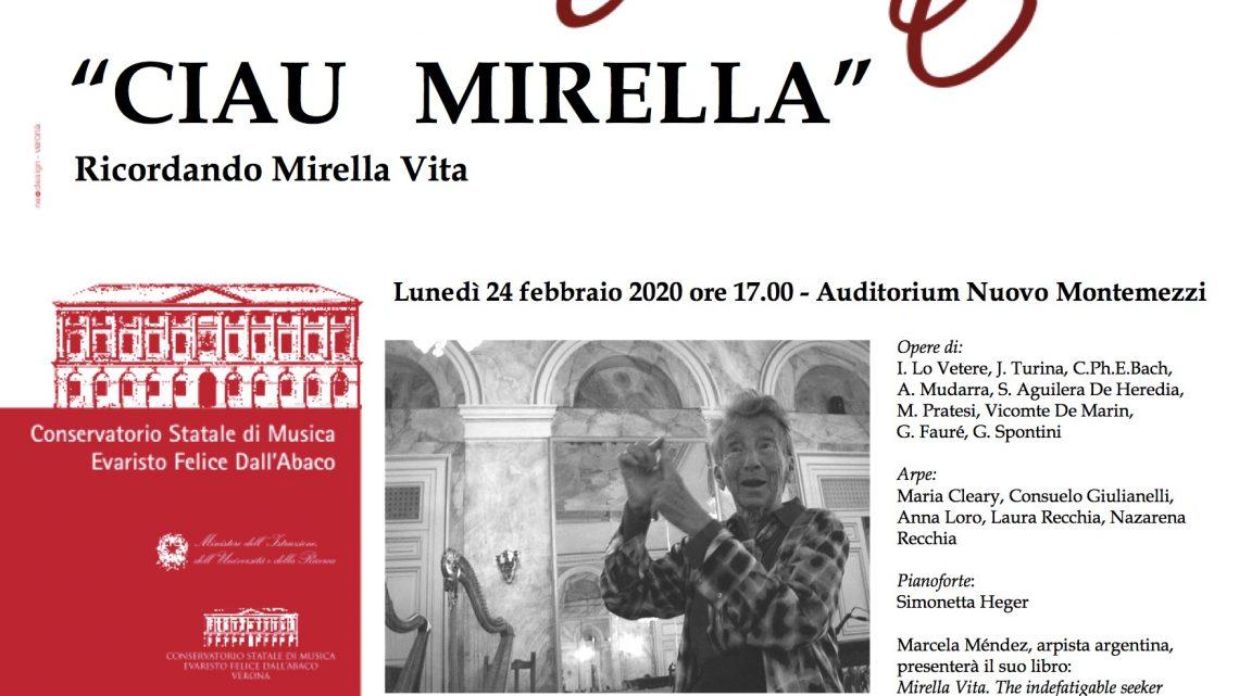 Ricordando Mirella Vita – Conservatorio Verona